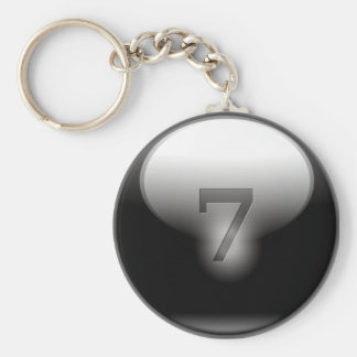 Black Lucky 7 Key Ring