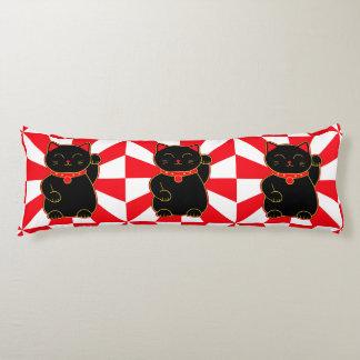 Black Lucky Cat Body Cushion