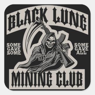 BLACK LUNG MINING CLUB SQUARE STICKER