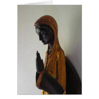 Black Madonna praying Card
