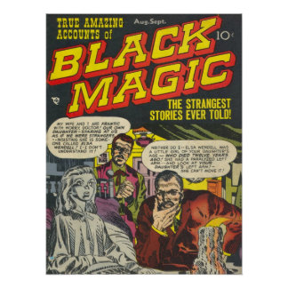 Black Magic Comic Book Poster Print