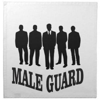 black male guard napkin