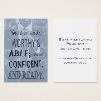 Black Man Confidence Business Card