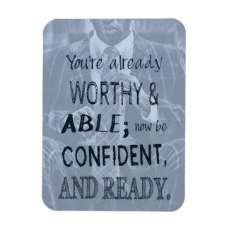 Black Man Confidence Magnet