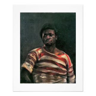 Black man portrait Othello painting Lovis Corinth 11.5 Cm X 14 Cm Flyer