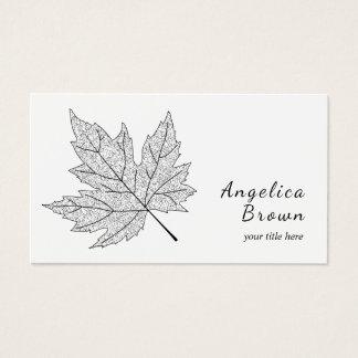 Black Maple Leaf Business Card