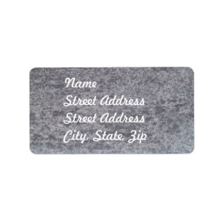 Black Marble Address Sticker Address Label