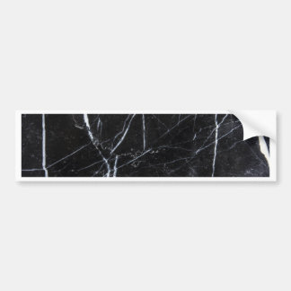 Black marble bumper sticker