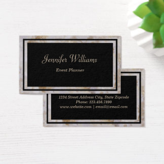 Black & Marble Business Card