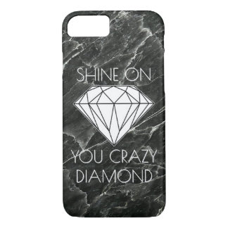 Black Marble Diamond Custom iPhone 7 Case