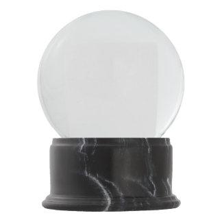 Black Marble Finish Snow Globe