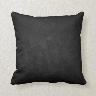 Black Marble Grunge Plush Throw Pillow Cushion