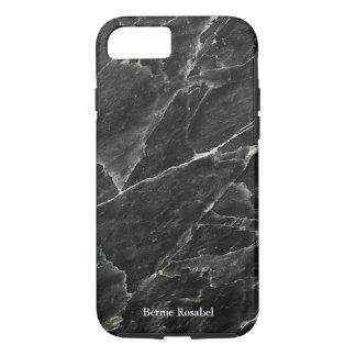 Black Marble Personalised iPhone 7 Case