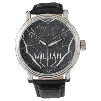 Black marble Personalized Name Watch