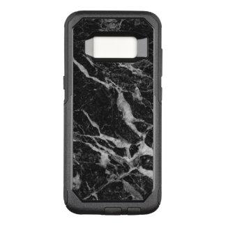 Black Marble Print Modern Design GR2 OtterBox Commuter Samsung Galaxy S8 Case
