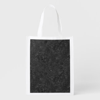 BLACK MARBLE REUSABLE GROCERY BAG
