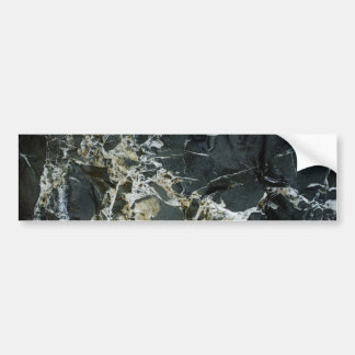 BLACK MARBLE ROCK Bumper Sticker