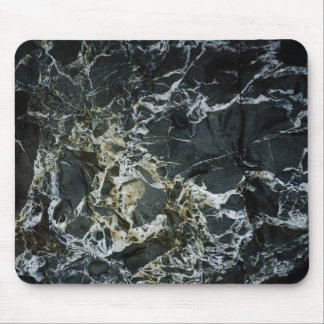 BLACK MARBLE ROCK Mouse Pad Mat