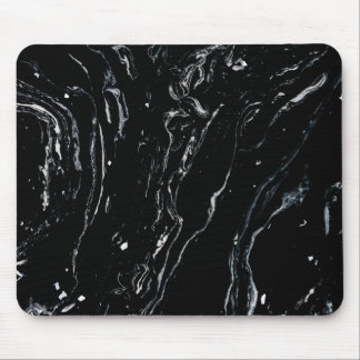 Black Marble Space Mouse Pad