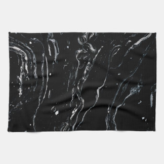 Black Marble Space Tea Towel