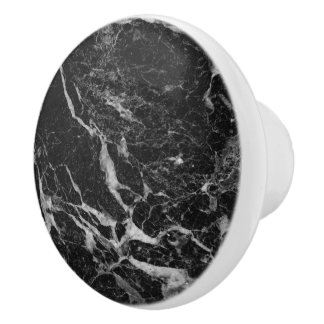 Black Marble Stone Ceramic Knob