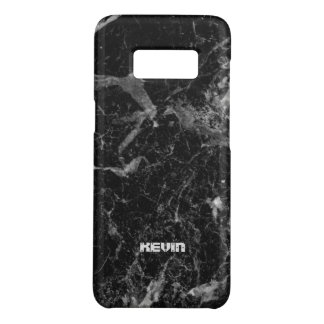 Black Marble Stone Texture Case-Mate Samsung Galaxy S8 Case