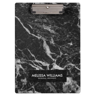Black Marble Stone Texture Clipboard