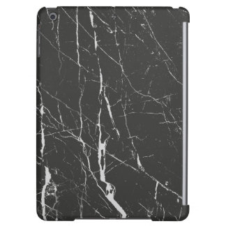 Black Marble Stone With Gray Textured iPad Air Cover