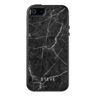 Black Marble Texture With Custom Name OtterBox iPhone 5/5s/SE Case