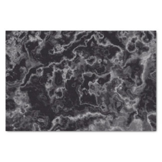 Black Marble Tissue Paper