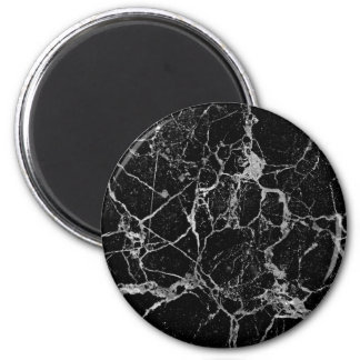 Black Marble with White Veining Magnet