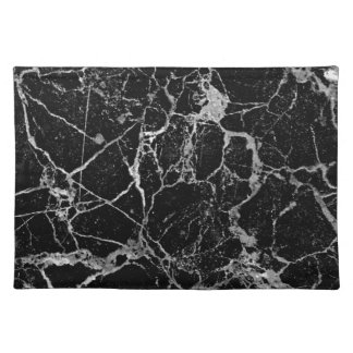 Black Marble with White Veining Placemat