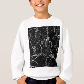 Black Marble with White Veining Sweatshirt