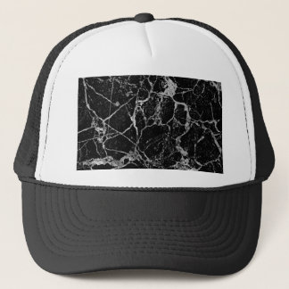 Black Marble with White Veining Trucker Hat