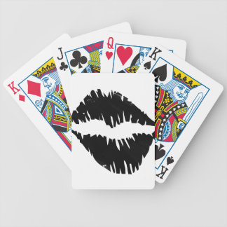 black-marker-goth kiss bicycle playing cards