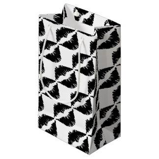 Black marker Goth Kiss Small Gift Bag