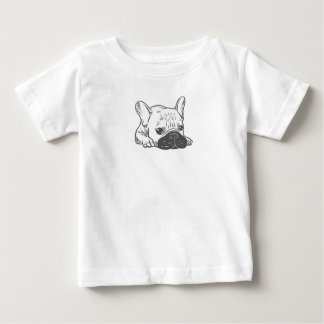 Black Mask Cream Frenchie Illustration Baby T-Shirt