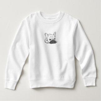 Black Mask Cream Frenchie Illustration Sweatshirt