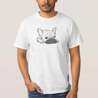 Black Mask Cream Frenchie Illustration T-Shirt