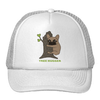 Black mask fawn Frenchie is a cute tree hugger Cap