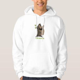 Black mask fawn Frenchie is a cute tree hugger Hoodie