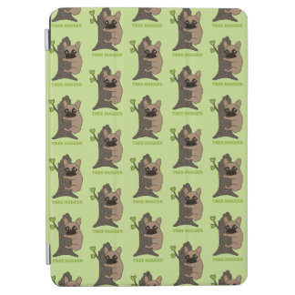 Black mask fawn Frenchie is a cute tree hugger iPad Air Cover