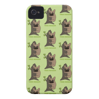 Black mask fawn Frenchie is a cute tree hugger iPhone 4 Cover