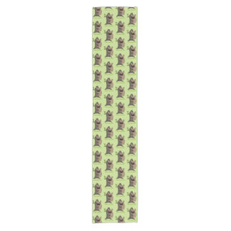 Black mask fawn Frenchie is a cute tree hugger Short Table Runner