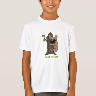 Black mask fawn Frenchie is a cute tree hugger T-Shirt