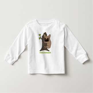 Black mask fawn Frenchie is a cute tree hugger Toddler T-Shirt