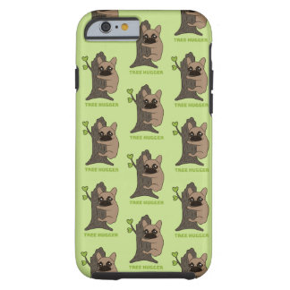 Black mask fawn Frenchie is a cute tree hugger Tough iPhone 6 Case