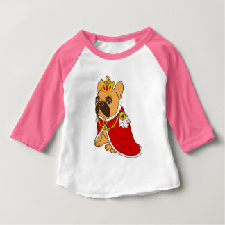Black mask fawn Frenchie is the King of the house Baby T-Shirt