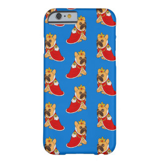 Black mask fawn Frenchie is the King of the house Barely There iPhone 6 Case