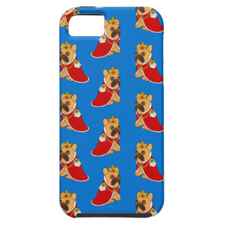 Black mask fawn Frenchie is the King of the house Case For The iPhone 5